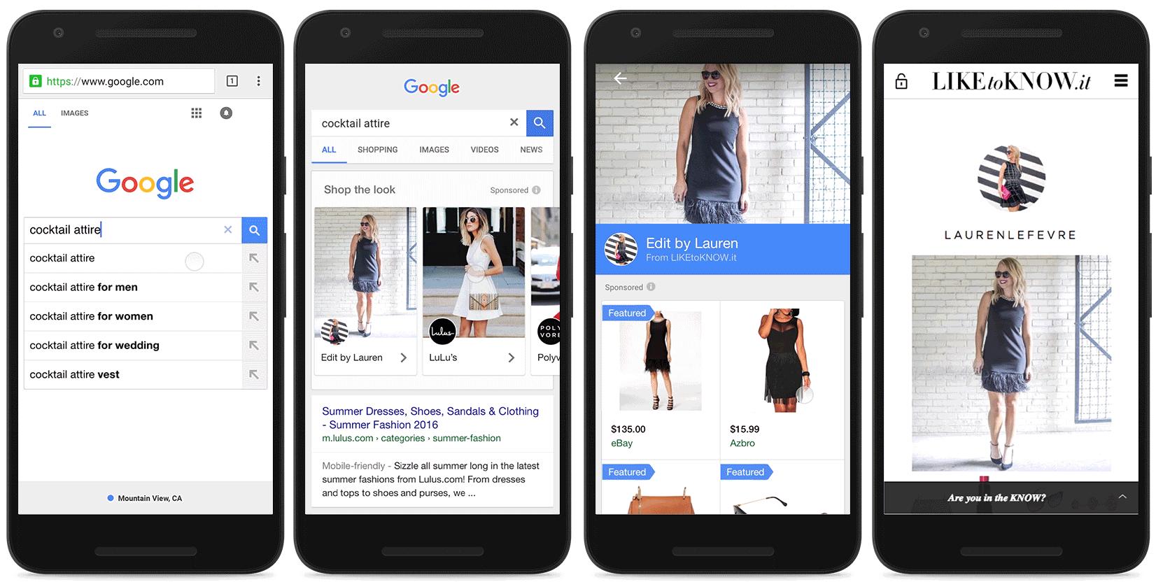 Nové formáty nákupných kampaní - Shop the look a showcase ads