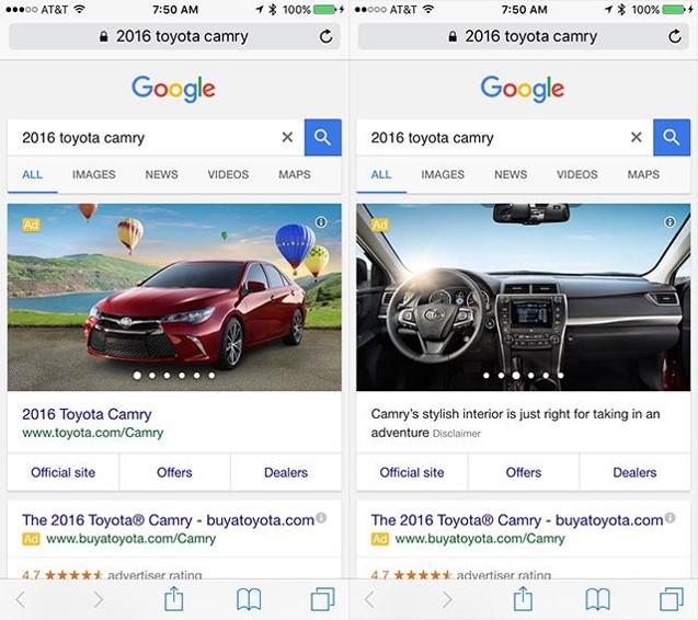 Automobilové reklamy v Google AdWords