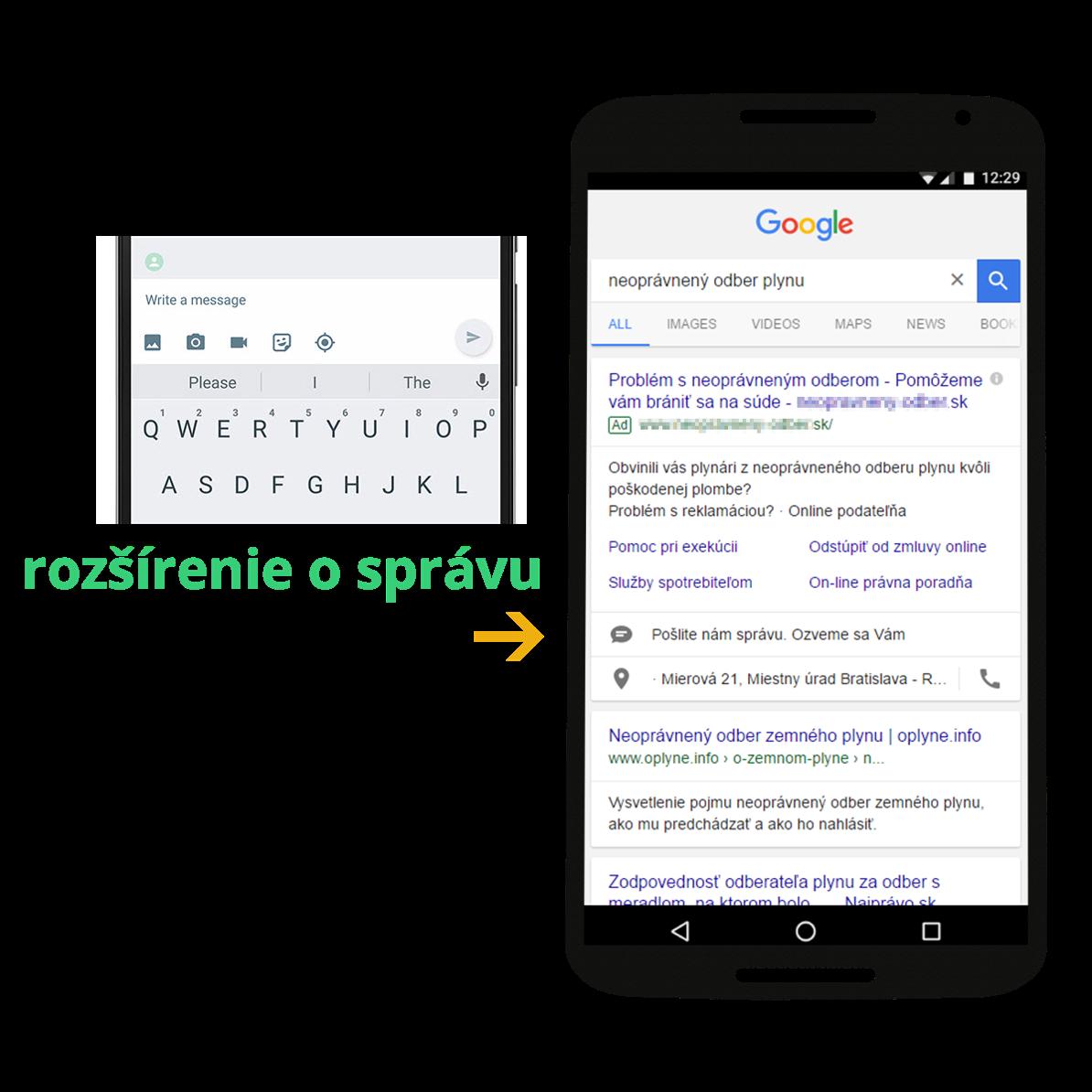 Rozšírenie o textovú správu